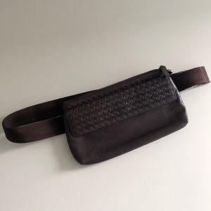Brown Leather Belt Bag
